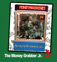 The Blizzard of Dollars Money Grabber Jr. Budget Money Blowing Machine