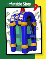 The Blizzard of Dollars Inflatable Slots Money Blowing Machine