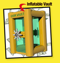 The Blizzard of Dollars Inflatable Vault Money Blowing Machine